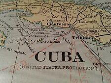 """Vintage 1902 ~ WEST INDIES Map Antique Original 22""""x14.5"""" Old Cuba MAPZ211"""