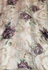"1 CROSCILL CHAMBORD SHEER Curtain Panel  60 X 84""L Excellent"