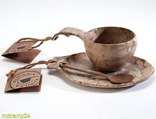 Kupilka Geschenkset Tasse 210 ml Platte Tee-Kaffeelöffel in Holzoptik