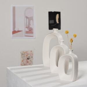 Ceramic Vase,Modern Artificial Flower Vase Ceramic for Living Room, Home Decor