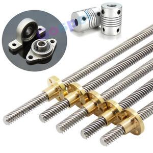 T8 Nut & Accessories 8mm Lead Screw Rod Linear Rail Bar Shaft For 3D Printer CNC