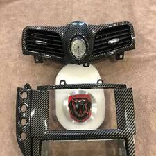 Maserati Grancabrio/Granturismo Carbon Fiber(*) Clock A/C & Head Unit Bezel Set