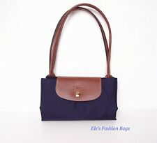 NWT LONGCHAMP Le Pliage Med Sml Shoulder Tote 2605089 BILBERRY Made in FRANCE!