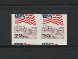US EFO, ERROR Stamps: #2523b Rushmore. Imperf + miscut coil pair. MNH
