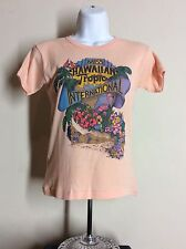 Vtg 80s Miss Hawaiian Tropic International T-Shirt Pink Baby Tee Hawaii
