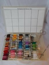 Mixed Lot  DMC & J&P Coats Embroidery Thread On Cardboard Bobbins 98 with Box