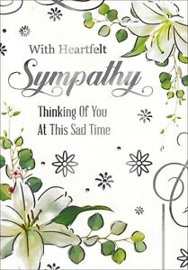 With Heartfelt Sympathy Card, With White Lilies