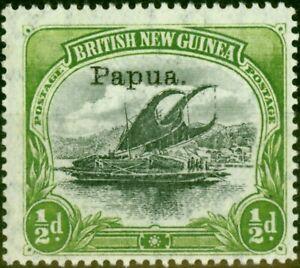 Papua New Guinea 1907 1-2d Black & Yellow-Green SG38 V.F Very Lightly Mtd Mint