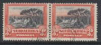 South Africa - 1930, 3d - Perf 14 x 13 1/2 - Horizontal Pair - F/U - SG 35a