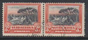 Südafrika - 1930, 3D - Perf 14 x 13 1/2 - Horizontale Paar - F/U - Sg 35a