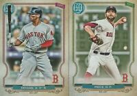 2020 GYPSY QUEEN Rafael Devers David Price Boston Red Sox 2 CARD LOT
