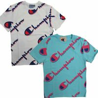 Champion Life Men's Heritage Tee, All Over Logo Dropshadow Short Sleeve T-Shirt
