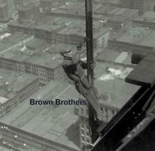 1911 Daredevil Construction Worker Atop NYC Woolworth Building Glass Negative #5