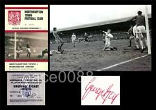 MANCHESTER UNITED v NORTHAMPTON 1970 FA CUP 6 GOALS GEORGE BEST SIGNED (PRINTED)