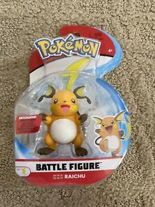 Pokemon Battle Figure Raichu Articulated Battle Ready Toy Figure - NEW