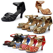 5/7cm Women Soft Heels Ballroom Salsa Tango Latin Dancing Professional Shoes New