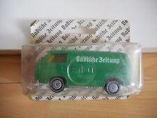Siku VW Volkswagen Transporter T3 Badische Zeitung in Green on Blister