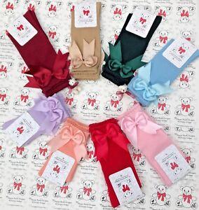 Spanish Sock SALE Spanish Designer double Bow knee socks girl SALE bargain £2.50