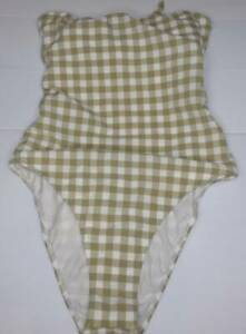 NEW WITH TAGS BILLABONG LADIES GINGHAM ONE PIECE SWIMSUIT SIZE M