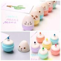 New 6 pcs Smile Egg Mini Highlighter Pen Marker Pens Material Stationery Ka W2J1