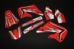 HONDA  CR125  98-99 & CR250 97-99  FLU PT TWO MX GRAPHICS DECALS KIT STICKERS
