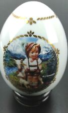 "Hummel Porcelain Egg Collection ""Little Goat Herder"" 1993 The Danbury Mint Euc"