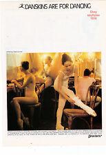 """1979 Danskins """"Danskins Are For Dancing"""" Classic Print Advertisement"""