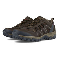 Hi-Tec Mens Jaguar Walking Shoes Brown Sports Outdoors Breathable Suede Leather
