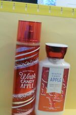 "Bath & Body Works ""WINTER CANDY APPLE"" lotion & mist"
