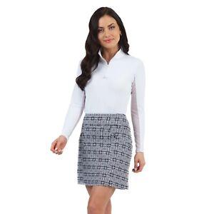 IBKUL Womens Pricilla Print Skort 29970 White/Black - New 2021