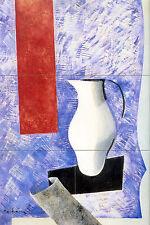 Russian Avant Garde Art Mural Vase Travertine Backsplash Tile #673