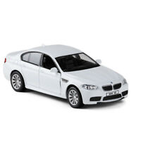1/36 BMW M5 Model Car Metal Diecast Gift Toy Vehicle Kids Pull Back White
