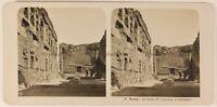 Italia Roma I Thermes Da Caracala c1905 Foto Stereo Vintage Analogica