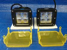 2х 20W CREE LED Flood Fog Driving Lights For Off Road Bar Cover Free!