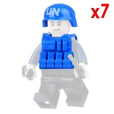 LEGO UN Helmets + Vest Blue Army SWAT Soldier Modern Military Accessory Lot