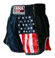 Premium Retro Muay Thai Shorts for men By World Mma Gear Handmade Navy blue