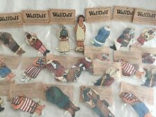 "WallDoll's Wooden Paper Doll 5.75""  w/ 21 Outfits NEW Turn of the Century Style"