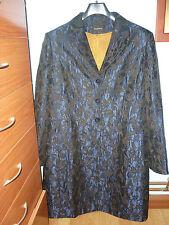 REBAJAS hyphen precioso abrigo azul marrón ocre mujer, talla xl 46 48,coat 18,