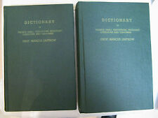Large 2v. Set Marcus Jastrow Aramaic Hebrew English Mishna & Talmud Dictionary