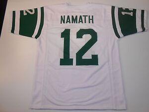 UNSIGNED CUSTOM Sewn Stitched Joe Namath White Jersey - M, L, XL, 2XL, 3XL