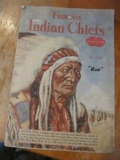 SCARCE FAMOUS INDIAN CHIEFS 1935 FOLIO COLORED PLATES BY BEN ELY