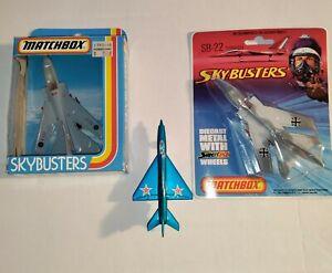 3 Lot Vintage Matchbox Sky Busters Tornado SB-22 Lesney 1973, 1981 & 19??