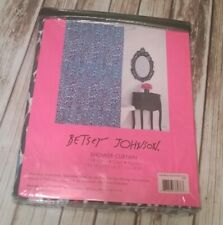 "Betsey Johnson 100% Cotton ""Leopard"" Print Shower Curtain 72 x 72 Blue Multi New"
