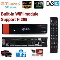 GTMedia V8 Nova DVB-S2 FTA Receptores de satélite Full HD 1080P Wifi incorporado