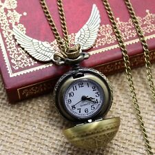 Watch Elegant Golden Snitch Quartz Fob Pocket With Sweater Necklace Chain