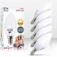 5 LED Leuchtmittel E14 Kerze Energiespar-Lampe Lampen 5W warmweiß Glüh-Birne SET