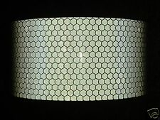 200MM X 50MM ORAFOL ORALITE REFLECTIVE TAPE SILVER STICKY BACK VINYL PRISMATIC