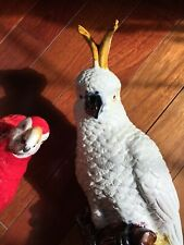"""Ceramic Cockatoo 18 1/2"""" Tall! Beautiful! see Listing for free ship offer!"""