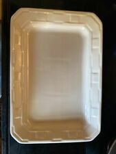 Longaberger Pottery Woven Traditions Rectangular Serving Platter Ivory 9x13 Exc