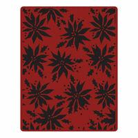 Sizzix Tim Holtz Texture Fades Embossing Folder - Christmas Poinsettias